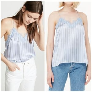 NWT Cami NYC The Racer charmeuse cornflower stripe